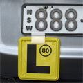 l-plate clip fitted to number plate